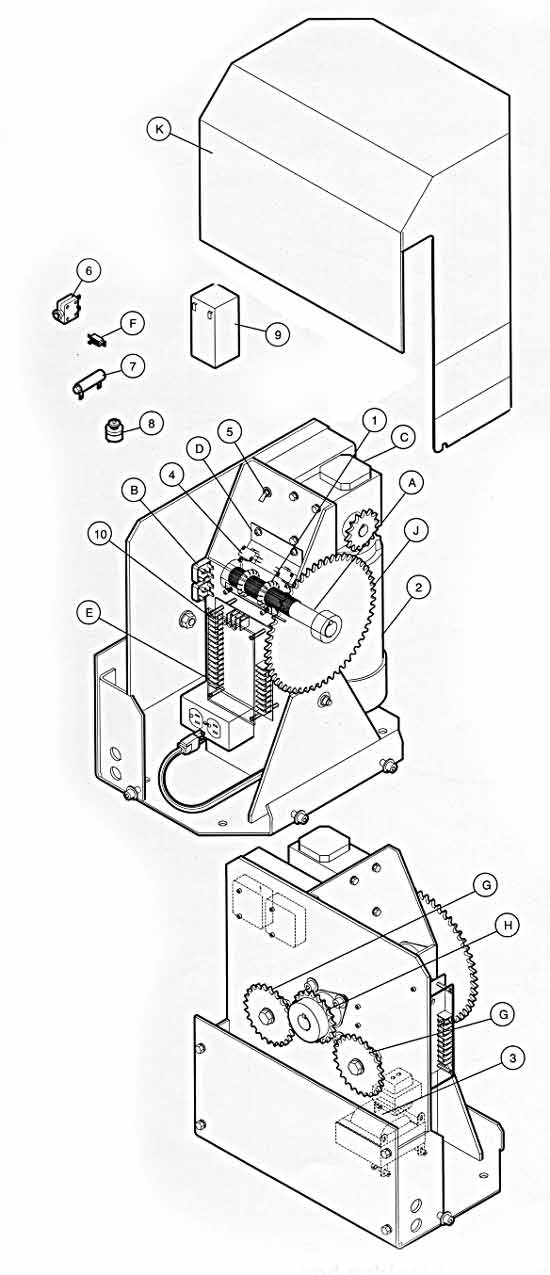 Liftmaster Sl 930 And Ags 3000 Gate Opener Replacement Parts